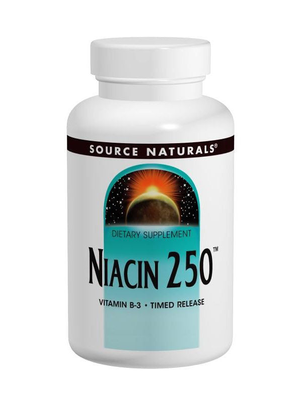 Source Naturals, Niacin Vitamin B-3, 250mg Time Release, 250 ct