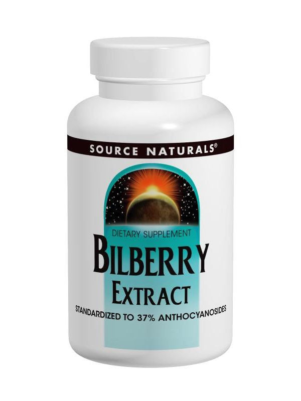 Source Naturals, Bilberry Extract, 50mg, 60 ct
