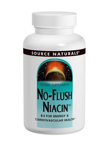 Source Naturals, No-Flush Niacin Vitamin B-3 Inositol Nicotinate, 500mg, 60 ct