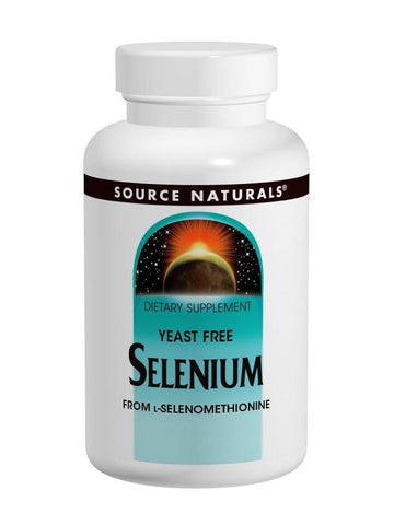 Source Naturals, Selenium Yeast-Free (L-Selenomethionine) 200mcg, 60 ct