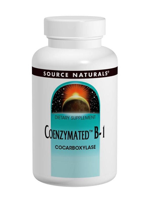 Source Naturals, Coenzymated Vitamin B-1, 25mg, 60 Sublingual