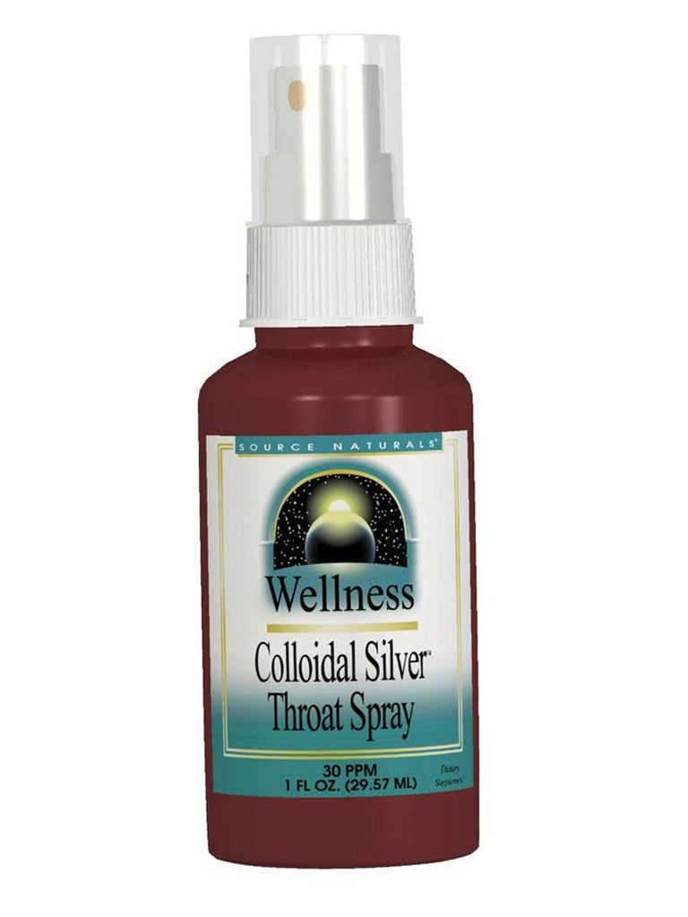Source Naturals, Wellness Colloidal Silver Throat Spray 30 ppm, 1 oz