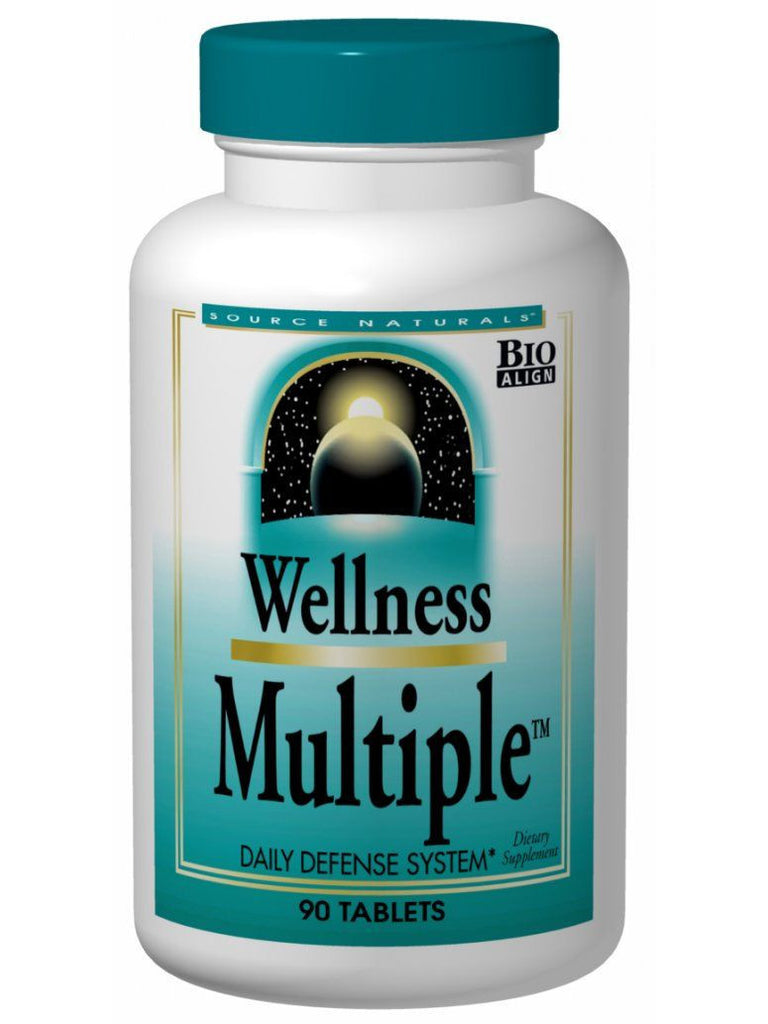Source Naturals, Wellness Multiple Bio-Aligned, 120 ct