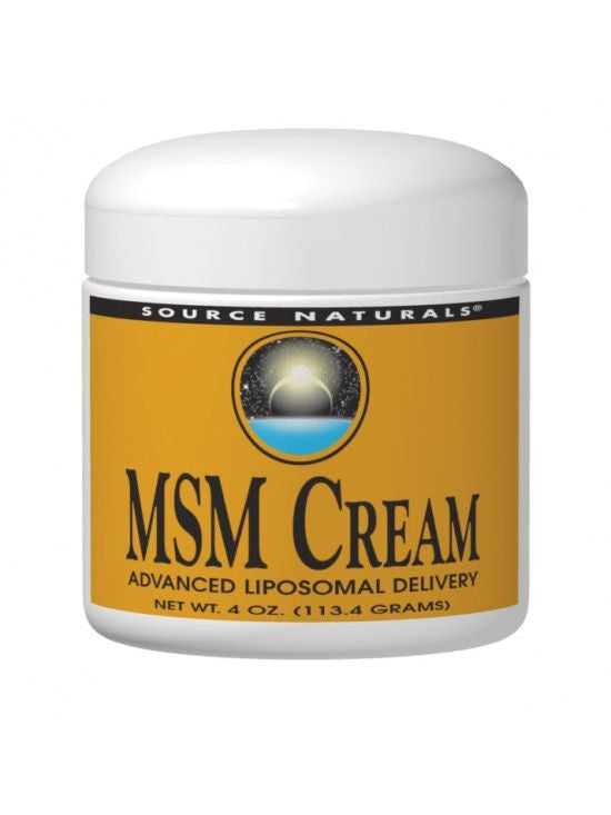 Source Naturals, MSM Cream 15%, 4 oz