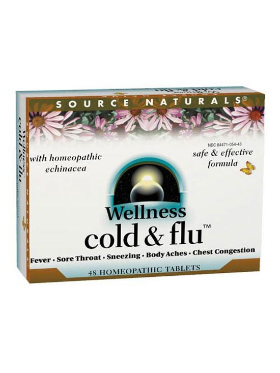 Source Naturals, Wellness Cold and Flu Homeopathic Bio-Aligned, 48 ct