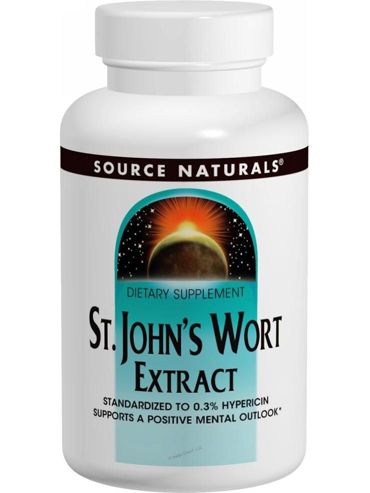 St. John's Wort Standardized Extract, 450mg, 90 ct, Source Naturals