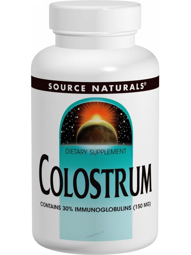 Source Naturals, Colostrum, 500mg, 30 ct