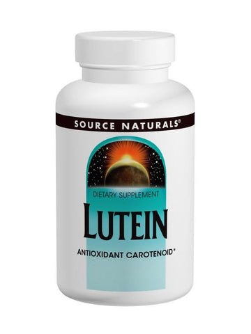 Source Naturals, Lutein, 20mg, 60 ct
