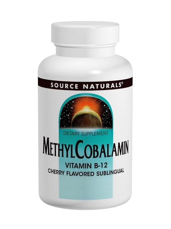 Source Naturals, MethylCobalamin Vitamin B-12 Subl Cherry, 5mg, 60 ct