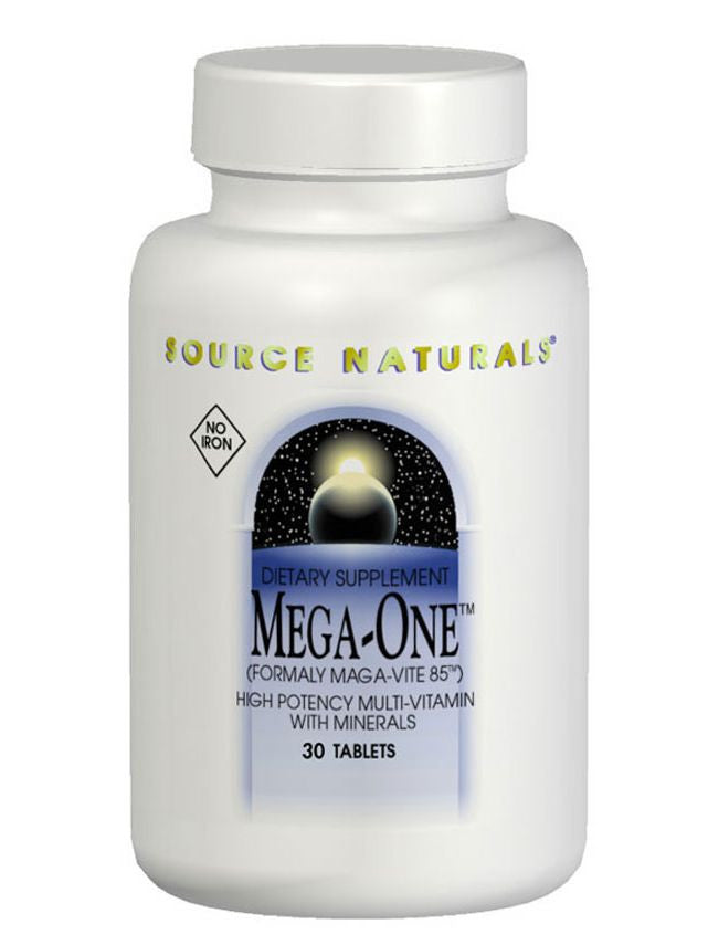 Source Naturals, Mega-One Multiple No Iron, 180 ct