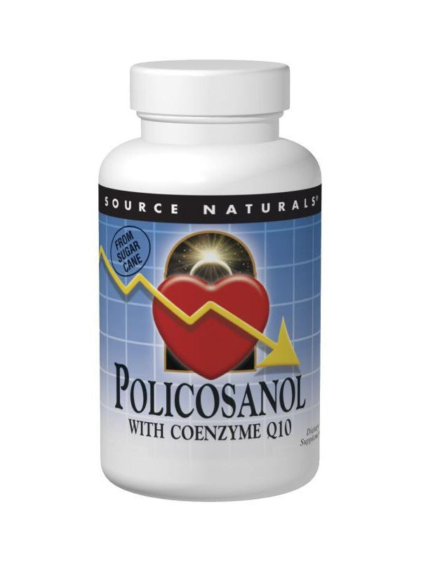 Source Naturals, Policosanol, 10mg w/15mg CoQ10, 120 ct