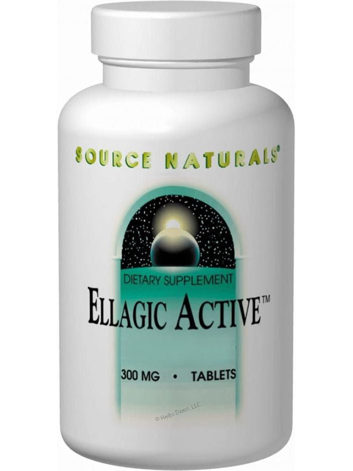 Source Naturals, Ellagic Active Raspberry Extract, 300mg 40% Ellagitannins, 60 ct