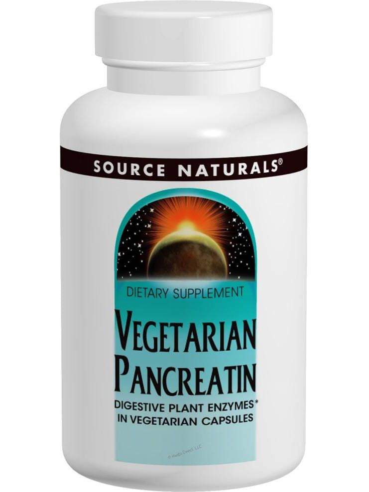 Source Naturals, Vegetarian Pancreatin, 475mg, 120 ct