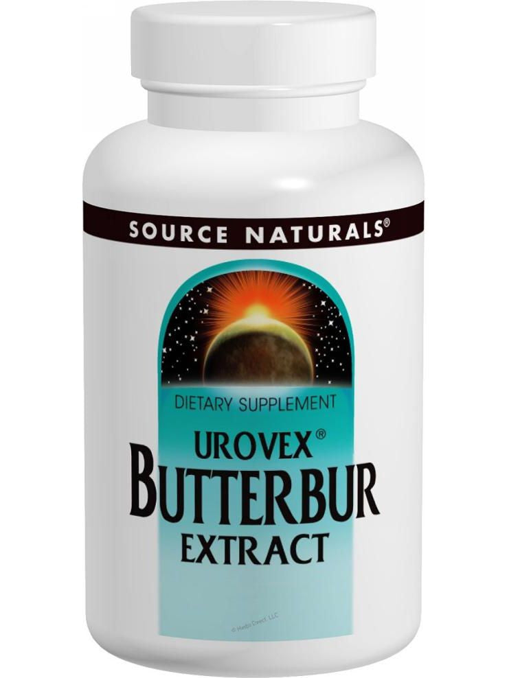 Source Naturals, Urovex Butterbur Extract, 50mg, 30 softgels