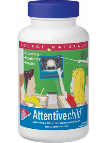 Source Naturals, Attentive Child Chewables Bio-Aligned, 120 wafers