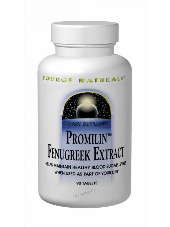 Source Naturals, Promilin Fenugreek Ext, 500mg Yielding 100mg 4-Hydroxyisoleucine, 60 ct