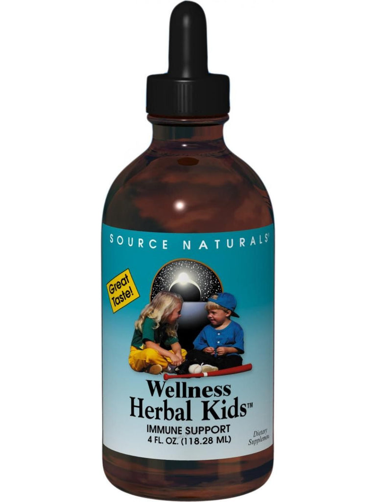 Source Naturals, Wellness Herbal Kids Alcohol Free, 4 oz