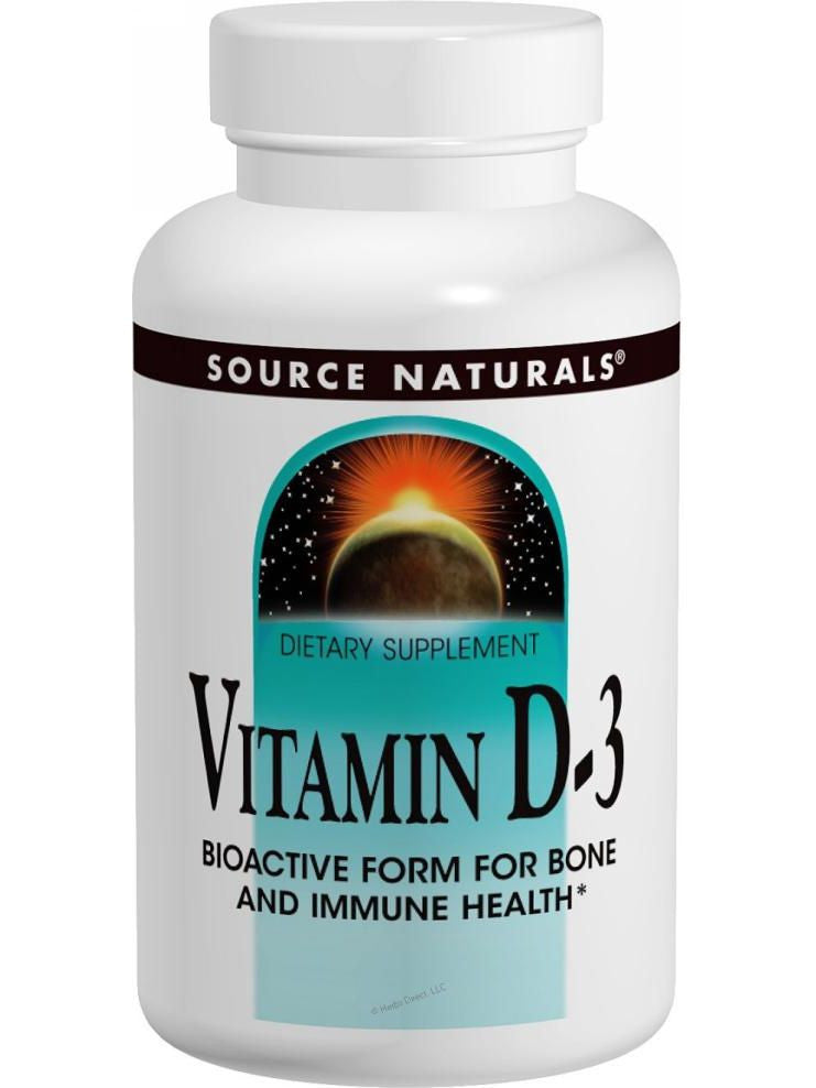 Source Naturals, Vitamin D-3 1000 IU, 100 ct