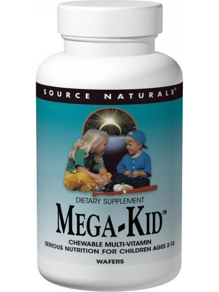 Source Naturals, Mega-Kid Multiple Chewable, 30 wafers