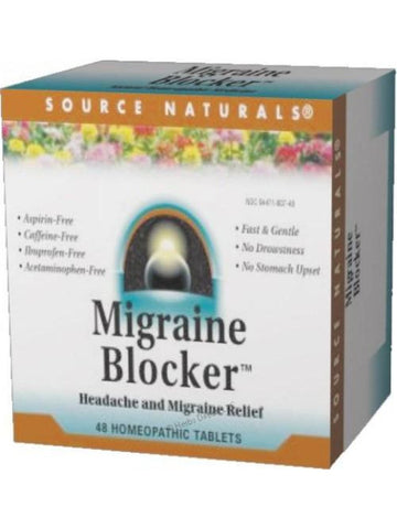 Source Naturals, Migraine Blocker Homeopathic Bio-Aligned, 48 ct
