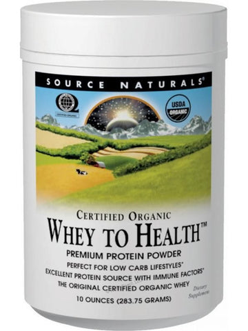Source Naturals, Whey to Health powder Certified Organic, 10 oz
