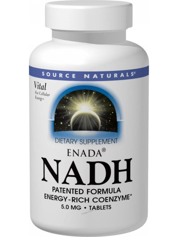 Source Naturals, ENADA NADH, 5mg Blister Pack, 60 ct