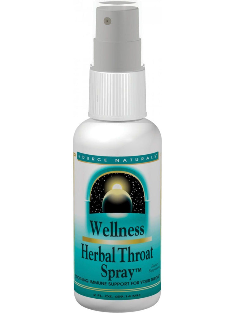 Source Naturals, Wellness Herbal Throat Spray, 2 oz