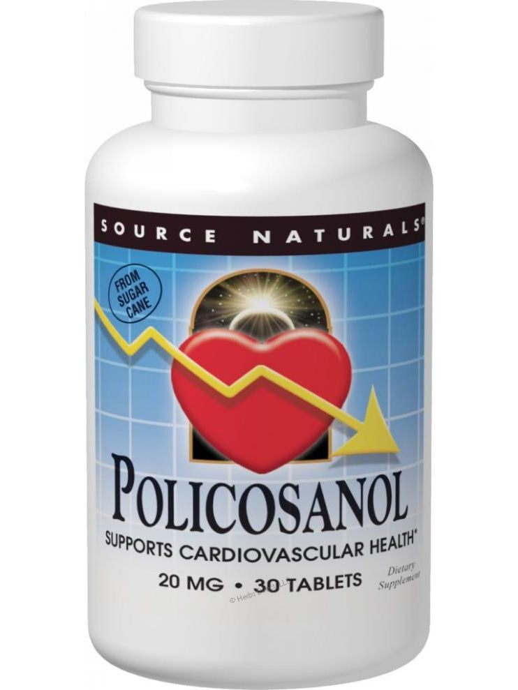 Source Naturals, Policosanol, 20mg, 60 ct