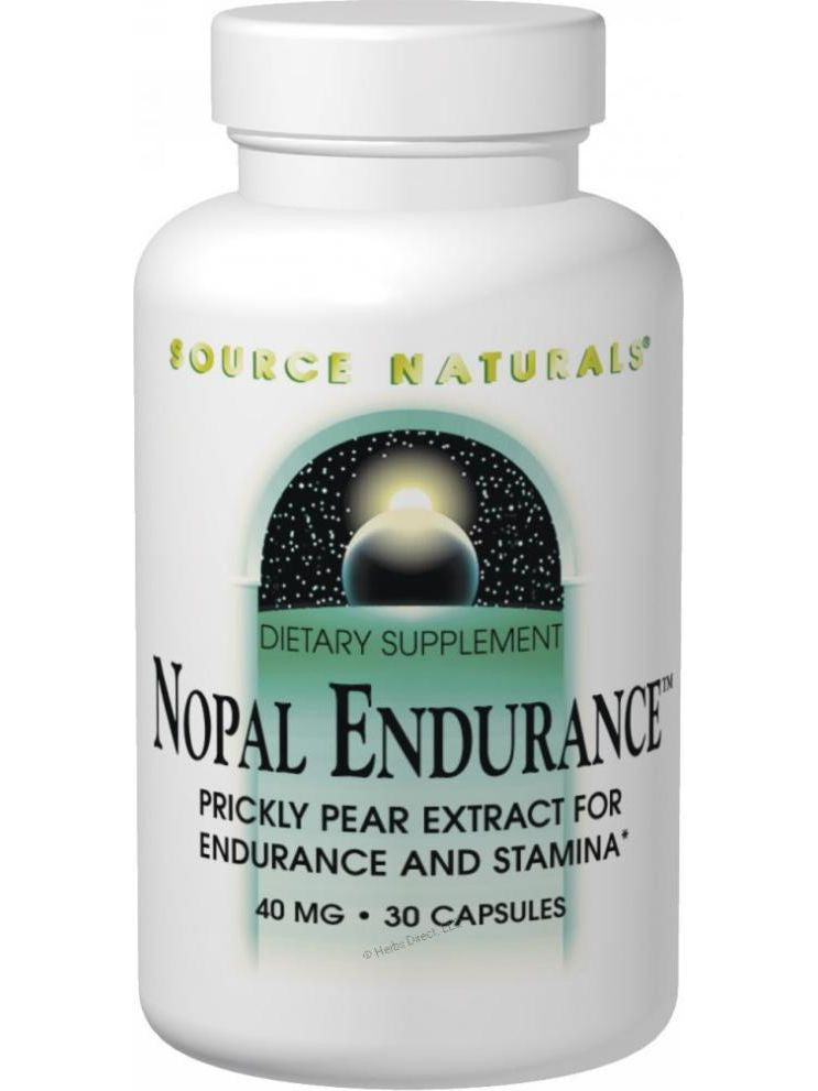 Source Naturals, Nopal Endurance, 40mg, 30 ct