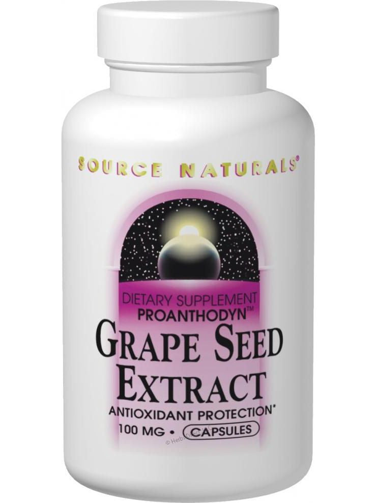 Source Naturals, Grape Seed Extract (Proanthodyn), 100mg, 60 ct
