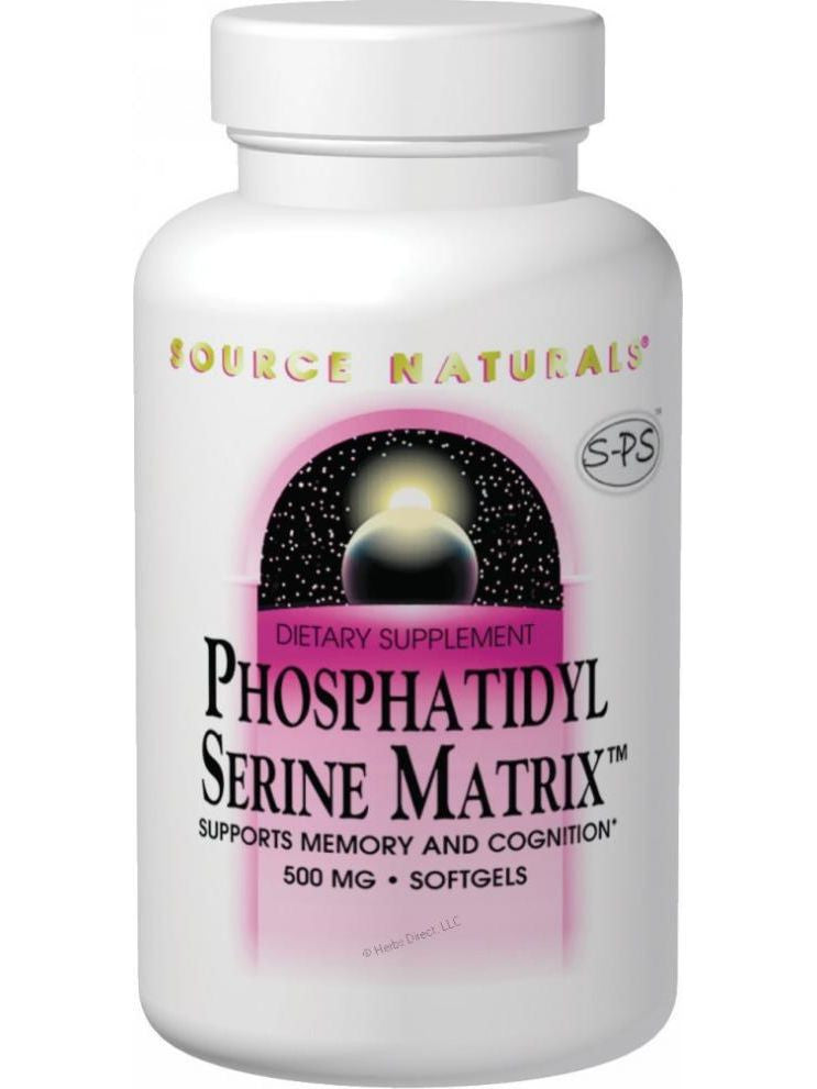 Source Naturals, PhosphatidylSerine Matrix, 500mg, 60 softgels