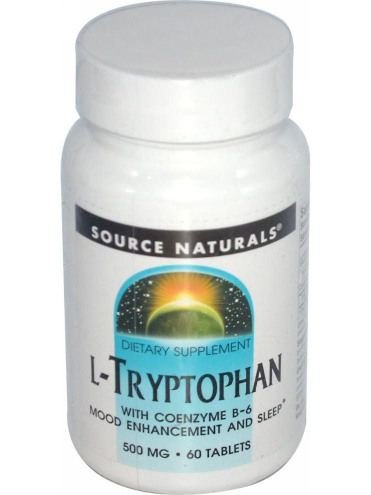 Source Naturals, L-Tryptophan, 500mg w/Coenzyme B-6, 60 ct