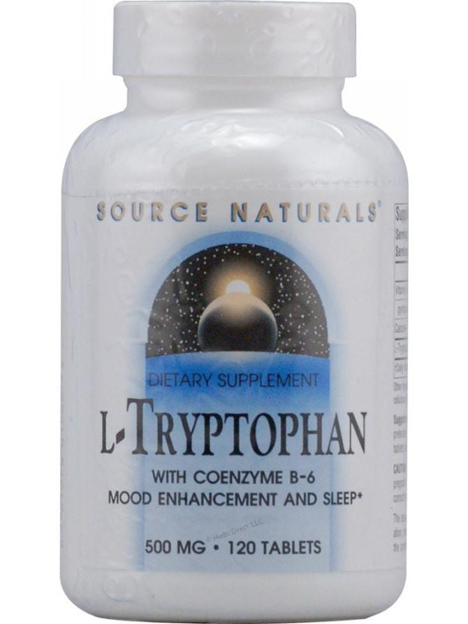 Source Naturals, L-Tryptophan, 500mg w/Coenzyme B-6, 120 ct