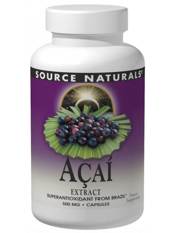 Source Naturals, Acai Extract, 500mg, 60 ct