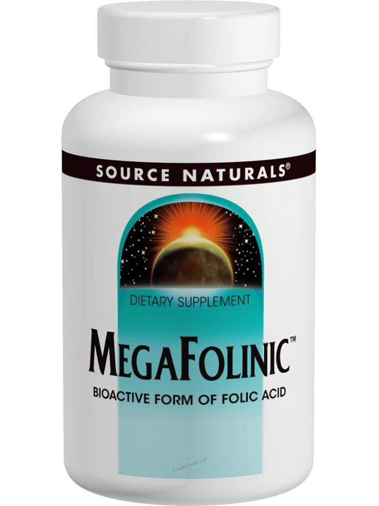 Source Naturals, MegaFolinic Bioavailable Folic Acid 800mcg, 120 ct