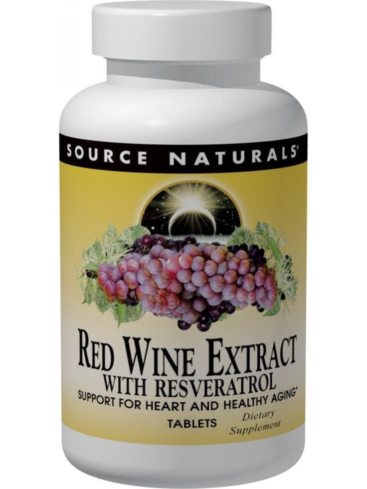 Source Naturals, Red Wine Extract w/Resveratrol, 60 ct