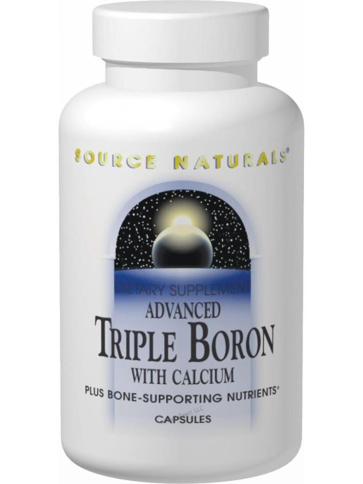 Source Naturals, Advanced Triple Boron with Calcium, 120 ct