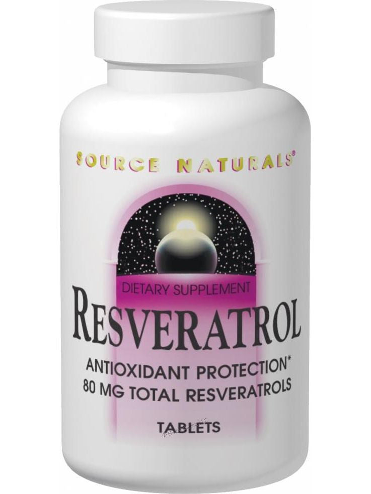 Source Naturals, Resveratrol, 80mg 8% Standardized Extract, 60 ct