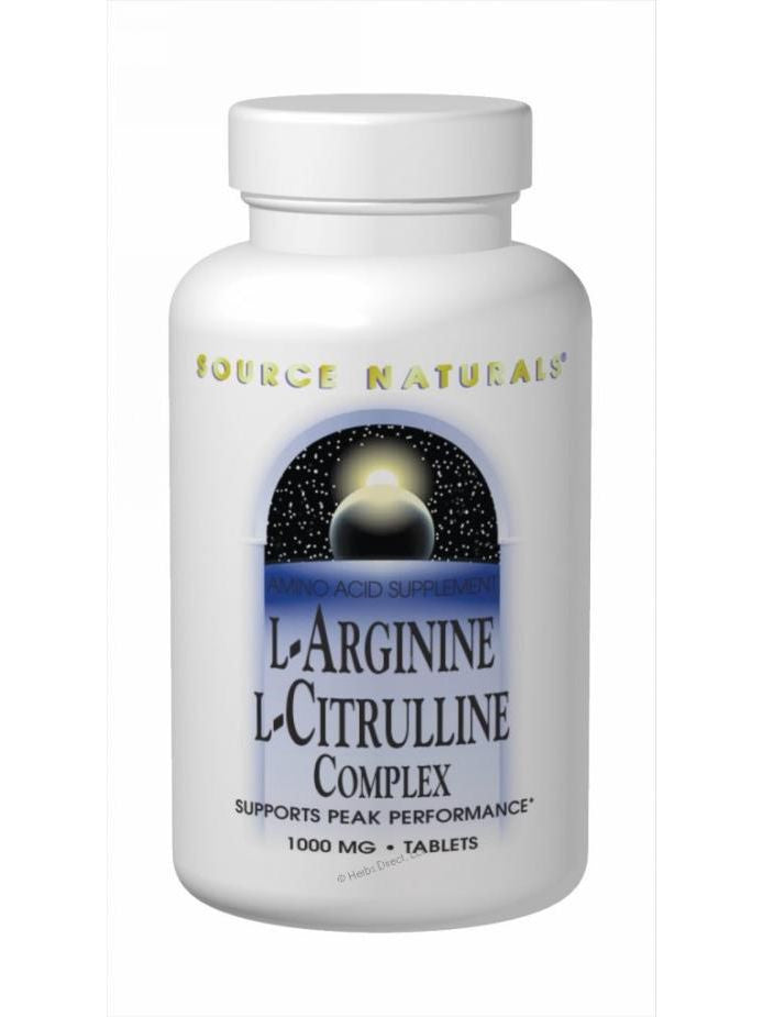 Source Naturals, L-Arginine L-Citrulline Complex, 240 ct