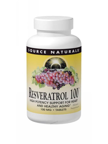 Source Naturals, Resveratrol 100 50% Standardized Extract, 30 ct