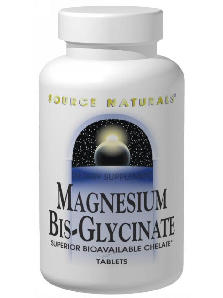 Source Naturals, Magnesium Bis-Glycinate, 100mg, 120 ct