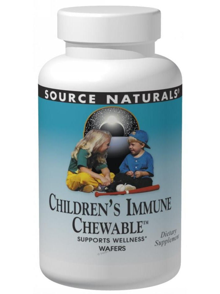 Wellness Children's Immune Chewable, 120 wafers, Source Naturals