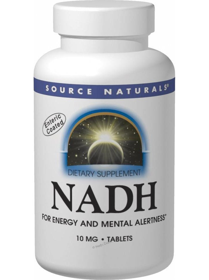 Source Naturals, NADH, 20mg Co-E1 Sublingual Blister Pack, 10 ct