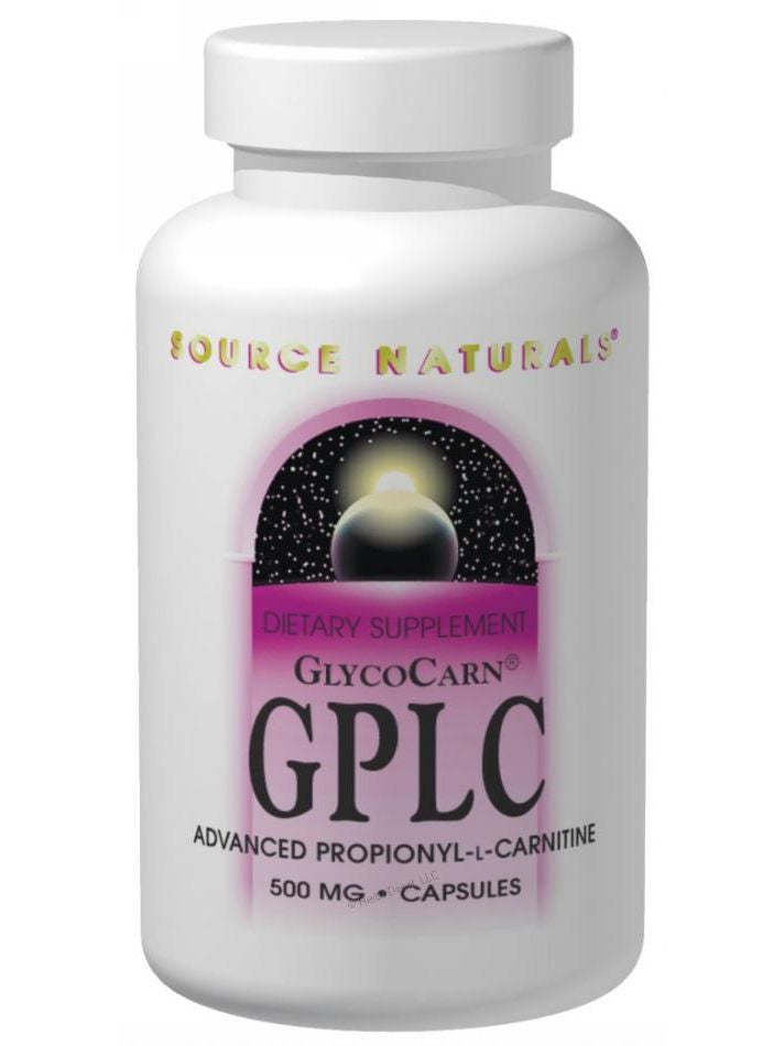 Source Naturals, GlycoCarn GPLC, 500mg, 60 ct