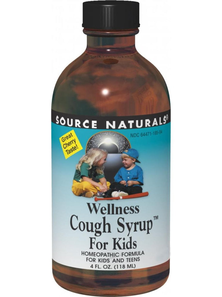 Source Naturals, Wellness Cough Syrup for Kids, 4 oz