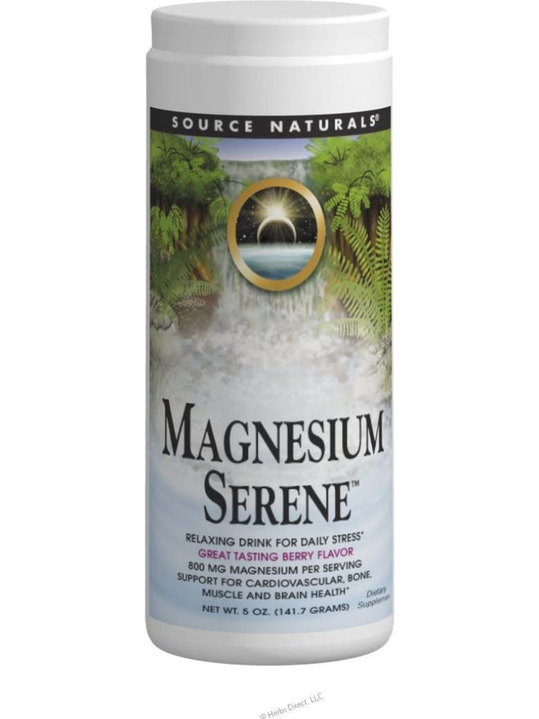 Source Naturals, Magnesium Serene Berry Flavor, 9 oz