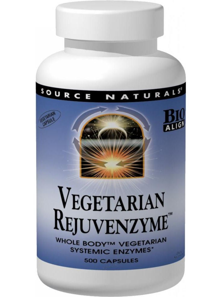 Source Naturals, RejuvenZyme Whole-Body Enzymes Vegetarian Bio-Aligned, 60 ct