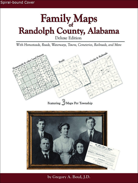 Family Maps of Randolph County, Alabama (Spiral book cover)