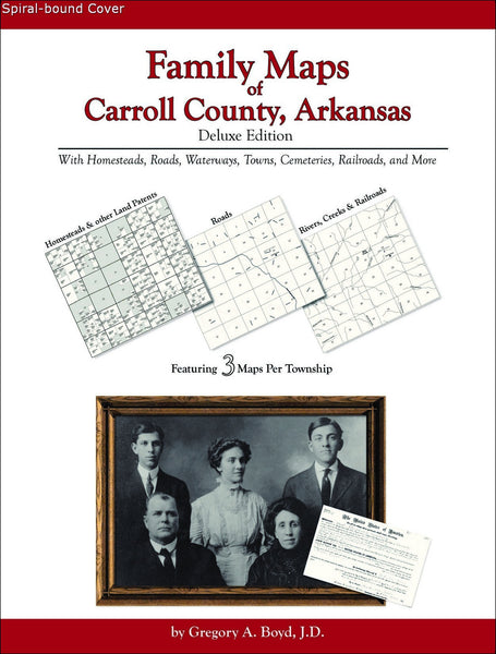 Family Maps of Carroll County, Arkansas (Spiral book cover)