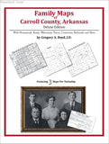 Family Maps of Carroll County, Arkansas (Paperback book cover)